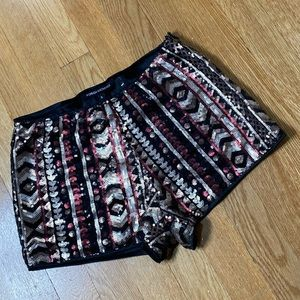 Foreign Exchange Sequined Patterned Shorts